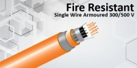 Fire Resistant With Single Wire Armoured 300/500 V
